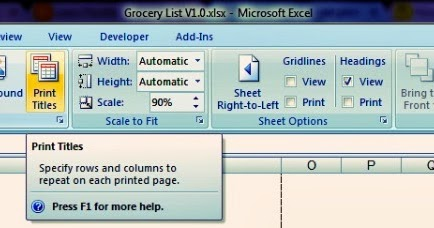 how to set print titles in excel 2016