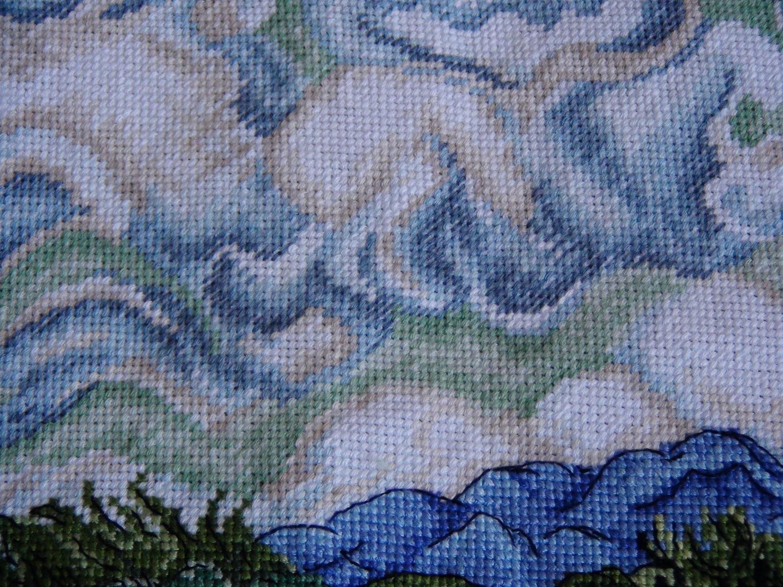 Кипарисы вышивка схема