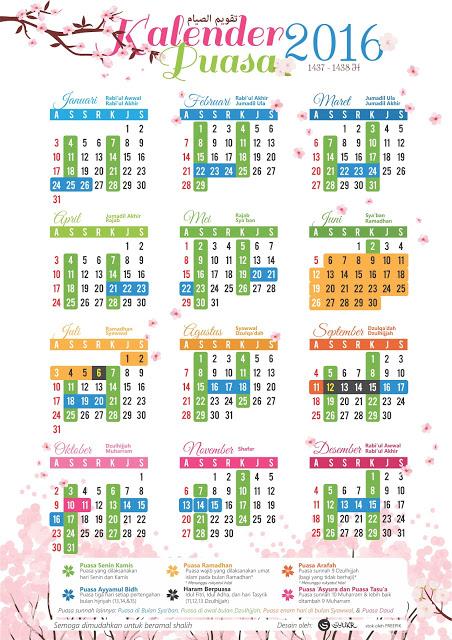 Kalender Puasa Sunnah 2016
