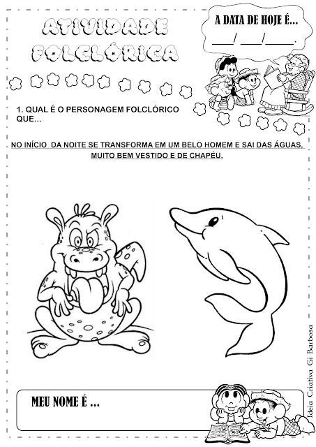 Favoritos Projeto Folclore Álbum com Atividades Educação Infantil | Ideia  FI67