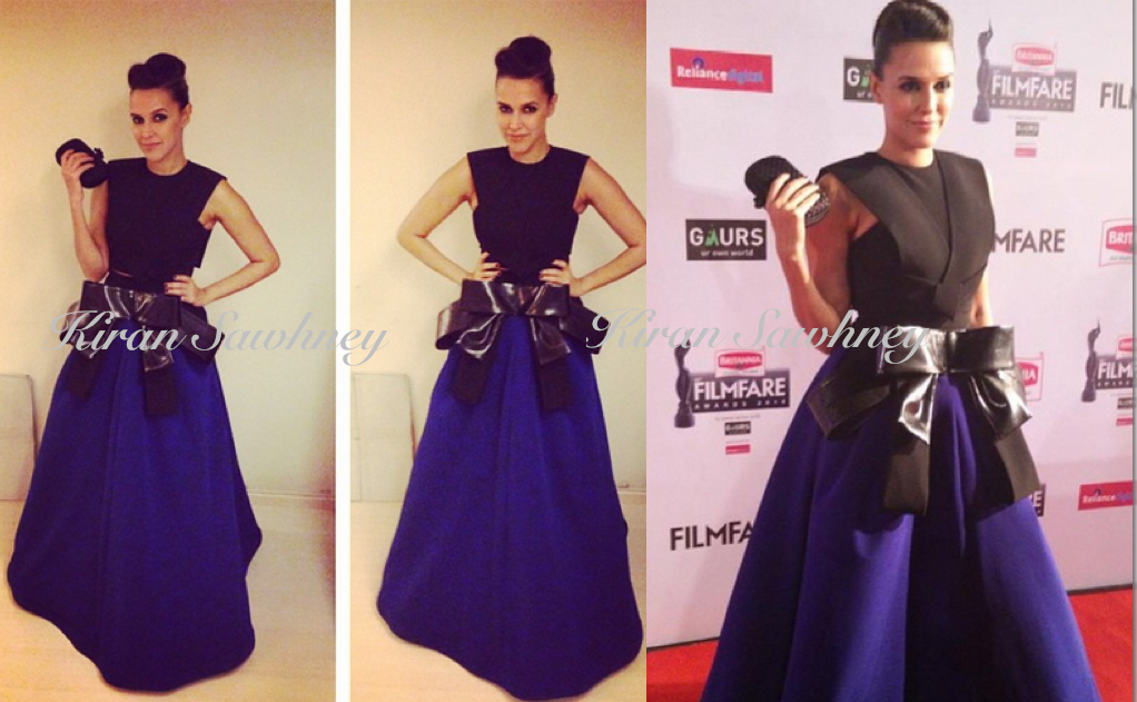 Neha Dhupia at 60th Filmfare awards 2015