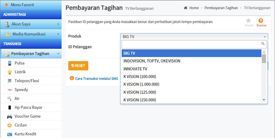 Bagaimana Cara Membayar Tagihan Big TV Tanpa Keluar Rumah?