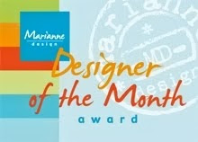 Designer of the month juli bij Marianne Design