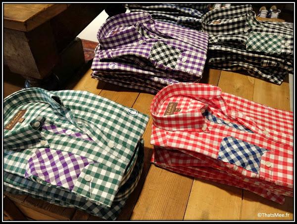 Seville boutique El Ganso hommes détails marque espagnole casual chic chemise vichy