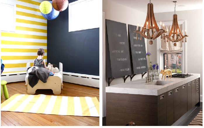 Bump to Baby Gear: Using Chalkboard Paint {Design Inspiration