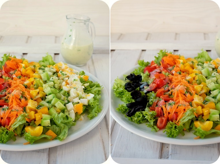 Salat Dressing Buttermilch Buttermilchdressing