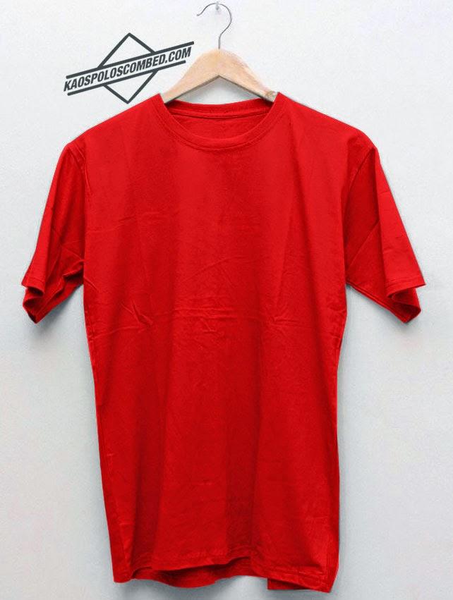Kaos Polos Merah Cabe