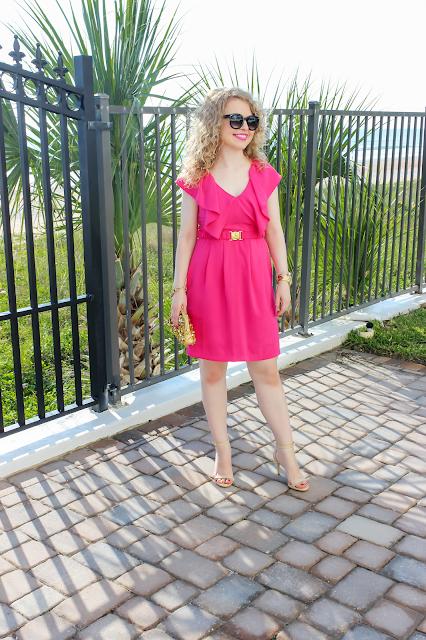 H&M dress, ruffles, sequin clutch, lawyer fashion blog, Nashville fashion blog