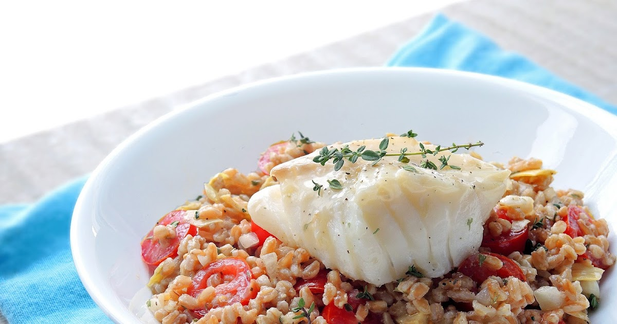 Cooking Creation: Pan-Fried Cod with Farro Salad in ...