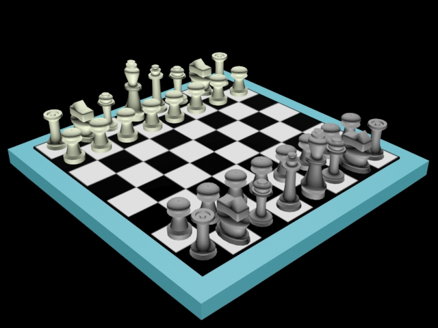 3d Design No 2 Chess Board Autodesk 3ds Max