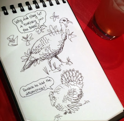 turkey sketch