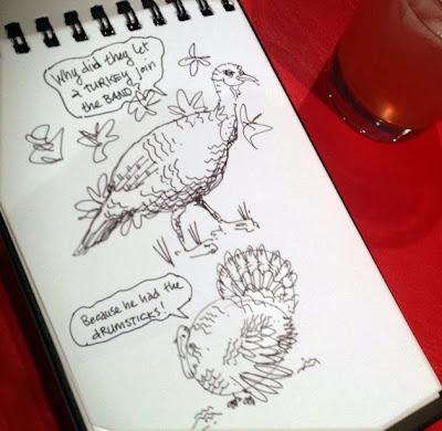 turkey sketch
