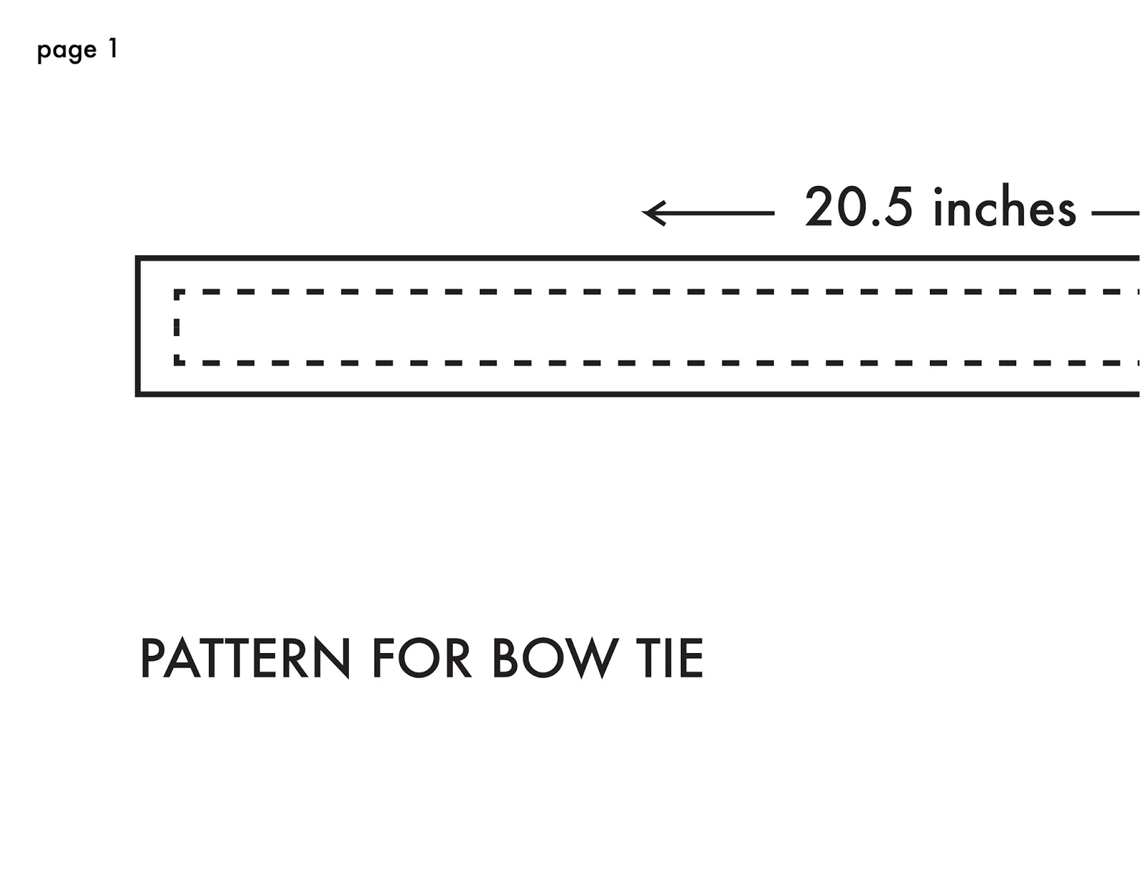 Bow Tie Sewing Pattern New Ideas