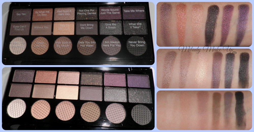 Hard Day Makeup Revolution Swatches