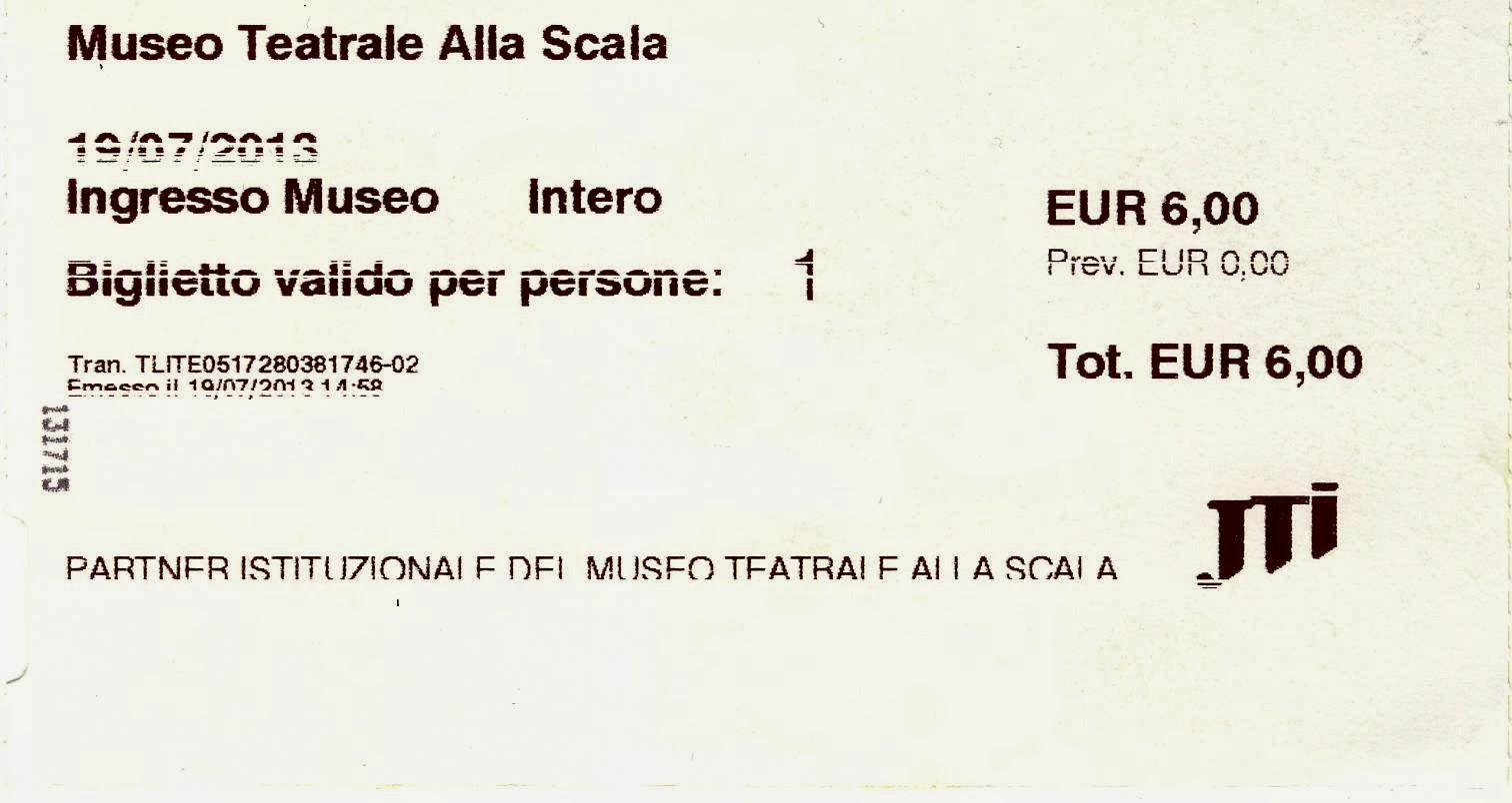Στο Μουσείο της Σκάλας του Μιλάνου :