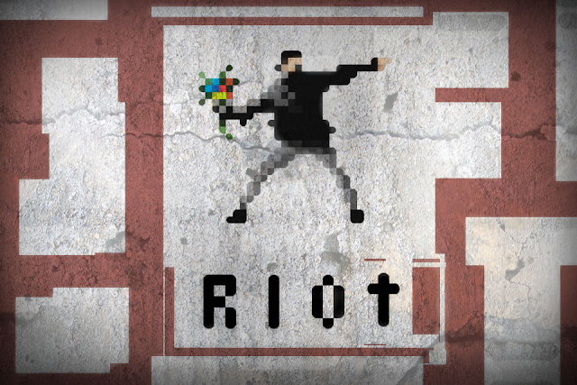 Riot Game image print screen logo world riot police refuse resist