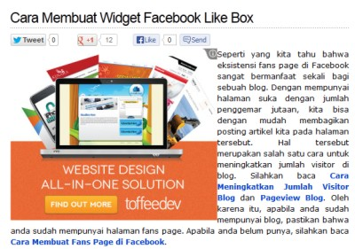 Tombol Social Media Keren di Blog Dicintai.Com