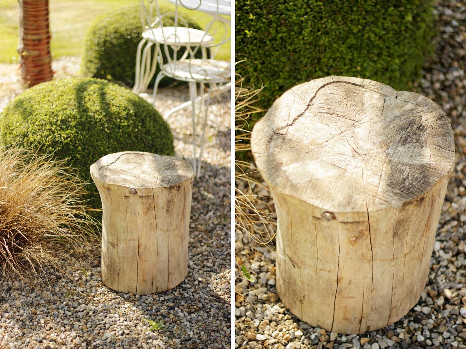 Mademoiselle sab diy table tronc - Maison en tronc d arbre ...