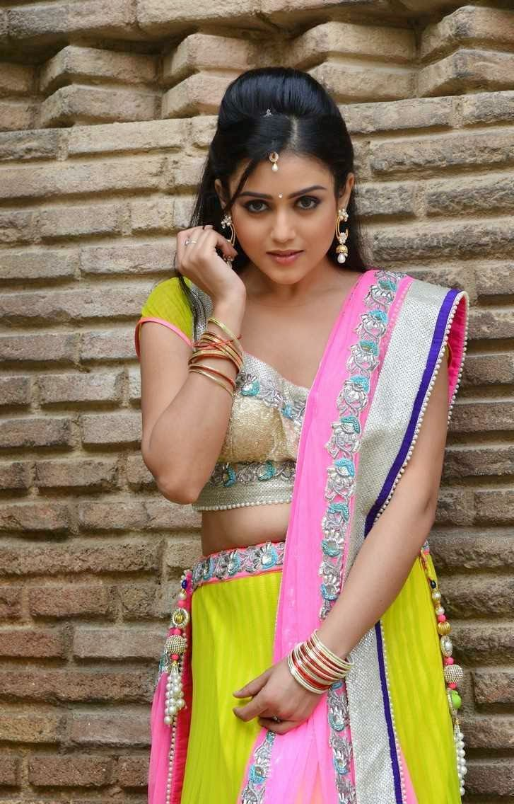 Actress Mishti Chakraborty Latest Cute Hot Beautiful Parrot Green and Pink Lehenga Spicy Photoshoot Gallery