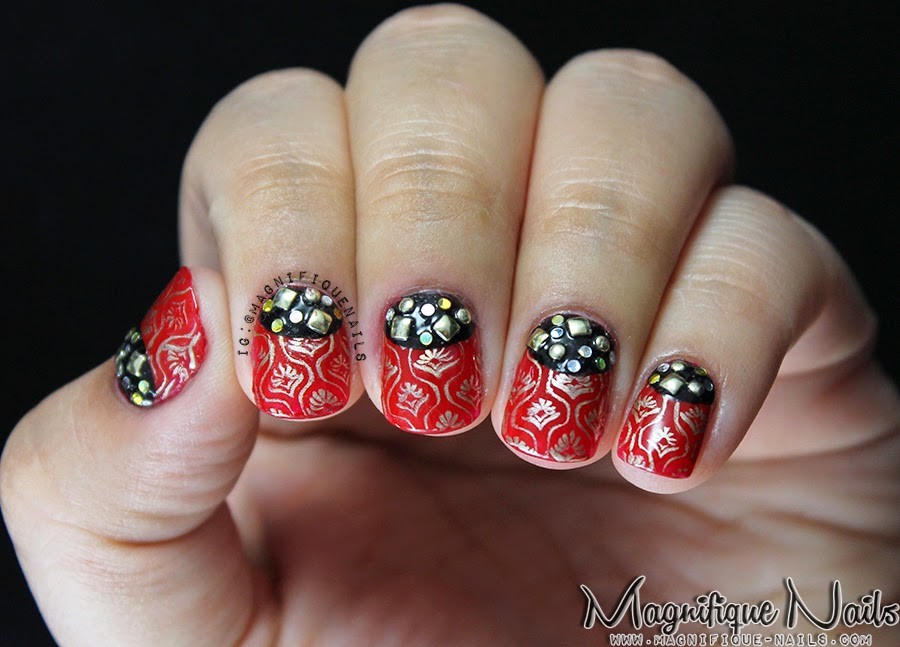 Recently I Reviewed Nail Stamping Plate From Born Pretty Which Fell For And Thought To Use It Again My Next Art Challenge