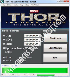 Thor The Dark World Hack
