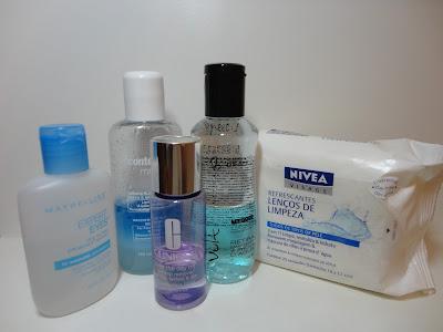 Demaquilantes maybelline, contém 1g, vult, clinique take the day off e lenços de limpeza nivea