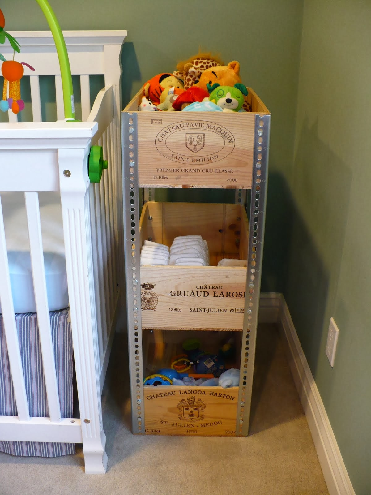 Diy wine crate shelves diy craft projects for Diy wine crates