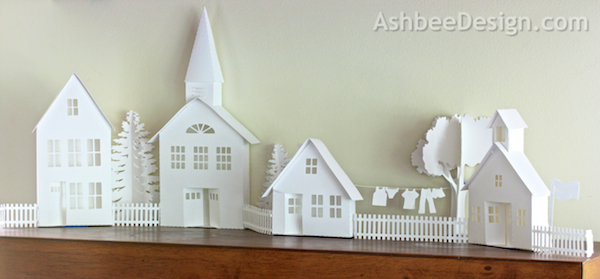 Ashbee Design Silhouette Projects 3d Ledge Village For