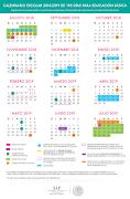 Calendario escolar oficial 195 días 2018-2019