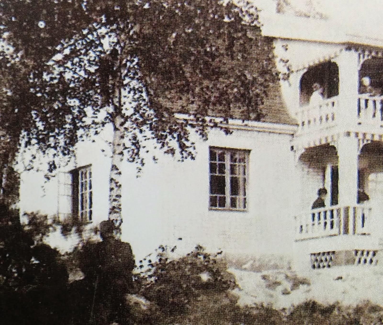 Vasikkasaaren pensionaatin päärakennus vuonna 1920