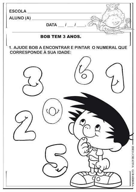 Atividade Identificando o Numeral 3