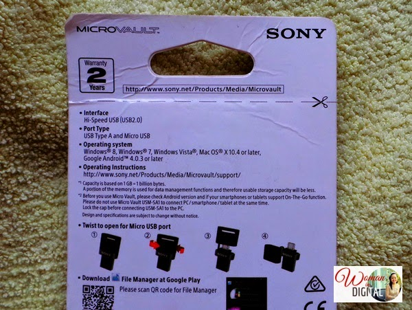 SONY Micro Vault USB Flash Drive / Woman In Digital