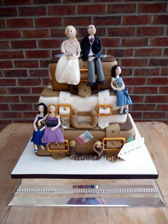 Honeymoon in Paris Wedding Cake by Sweet Art Cakes 205 Overndale Road