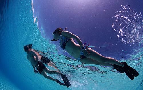 Erotic swimming lessons