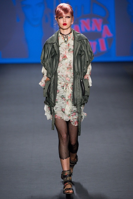 Grunge punk hybrid with fishnets and florals for Spring