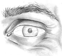 step 4 of drawing an eye