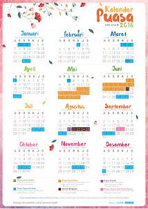 Kalender Puasa Wajib & Sunnah 2018 Untuk Ahli Surga