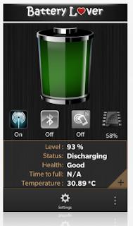 تطبيق مجانى لرصد حالة البطارية والحفاظ عليها لهواتف بلاك بيرى Battery Lover 1.0.1.2