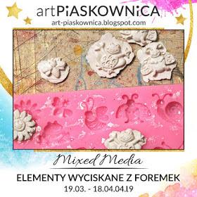 Art-piaskownica-Mixed Media-masa prensada en molde de plástico