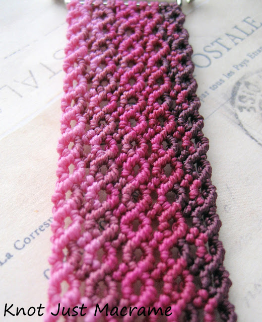 Micromacrame knotting with ombre shading by Knot Just Macrame