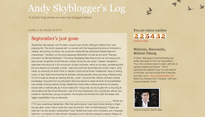 Directorypax  Andy Skyblogger's Log  Musical Directory for your site