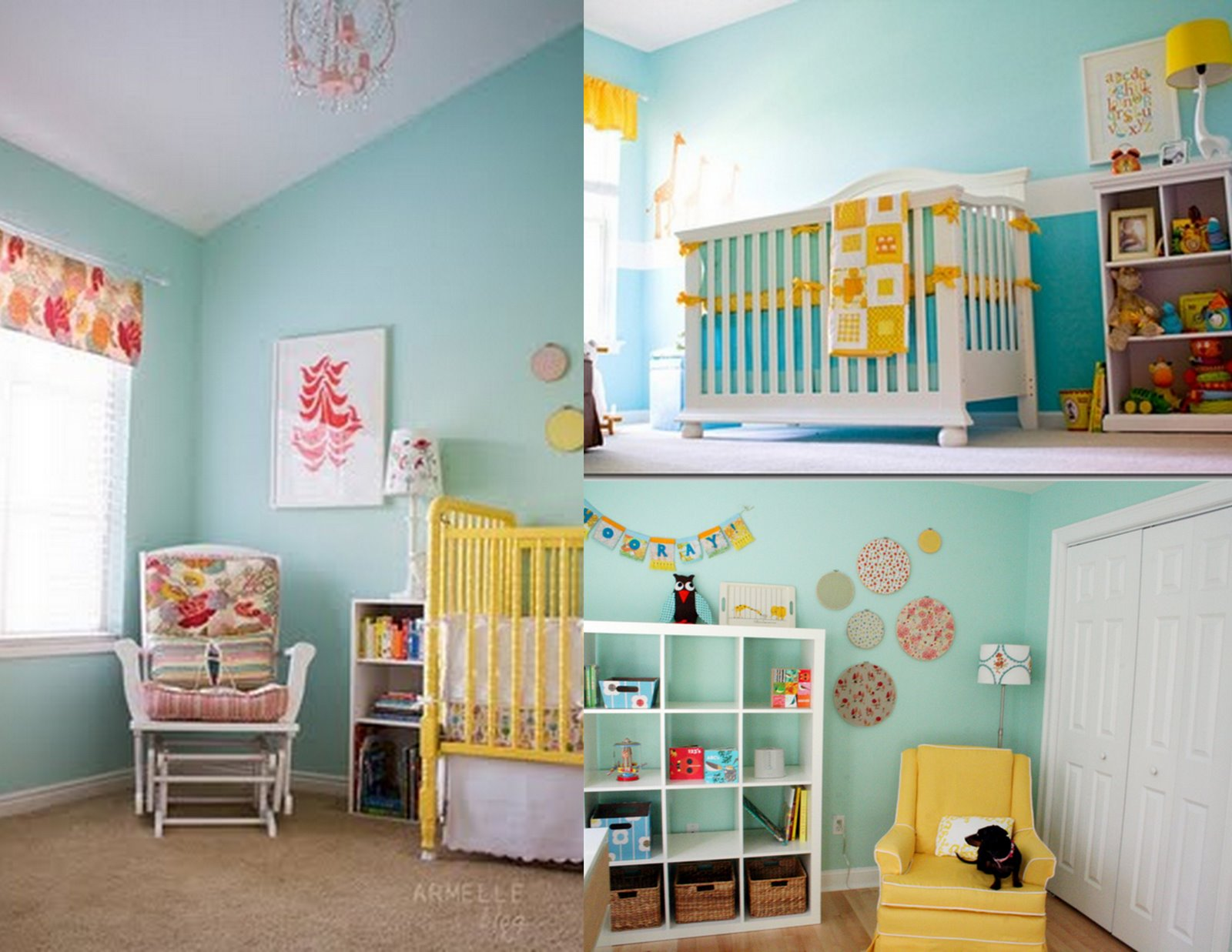 Kathryn Church Designs Nursery Inspirations Teal Aqua and Yellow