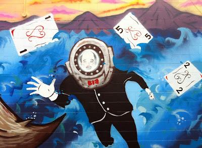 Mural – Twilight Exit -Bewildered Deep Sea Diver?