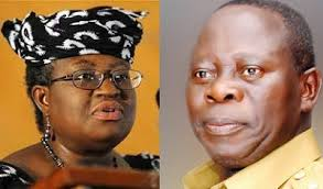 Ngozi Okonjo-Iweala and Adams Oshiomhole