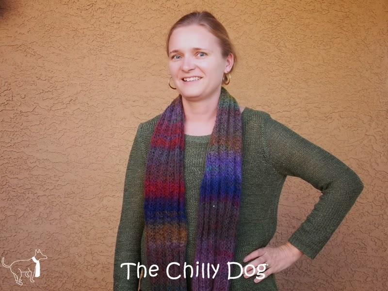 Wildflowers Knit Infinity Scarf Pattern The Chilly Dog