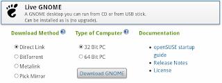 LIVE ISO GNOME 32 bit  64 bit OPENSUSE