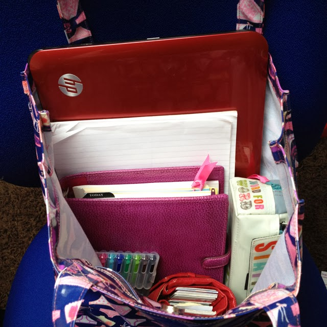 Fancy Pants Portable Office! Love this bag from Julie Slater and Son! #bag #shopper #tote