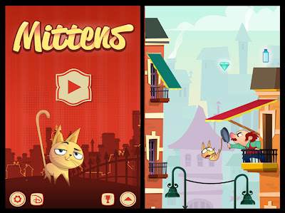 Mittens DIsney iPhone Android game cat  review MetroGames