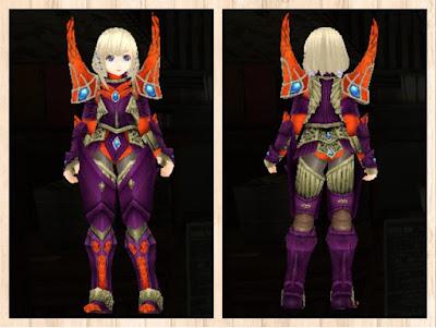 蛮竜の鎧・紫色1