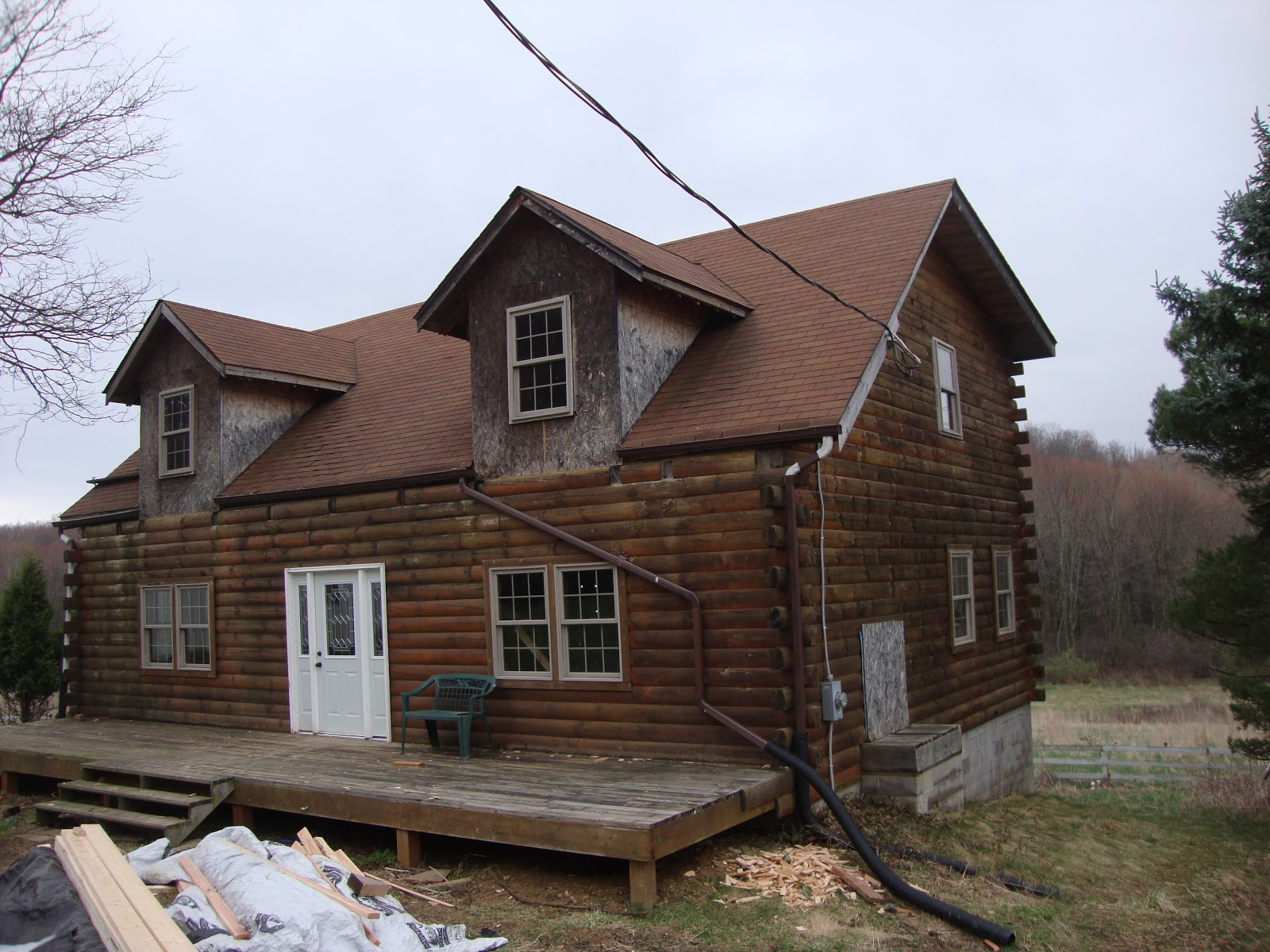 Patriot Log Home Builders Abandoned Log Home Saved By